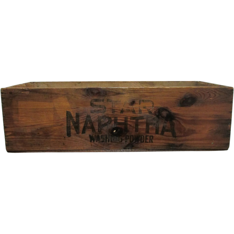Proctor and Gamble Co.  Star Naphtha Washing Powder Wood Advertising Box