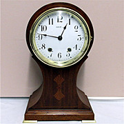 Seth Thomas Inlaid Balloon Clock 100% Original And Fully Restored