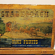 Pear Crate with Paper Label