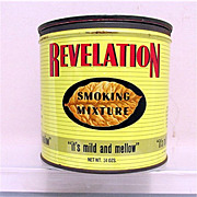 Revelation Advertising Tobacco Tin