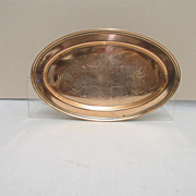 International Silver Company Engraved Oval Tray