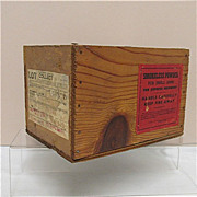 Smokeless Gun Powder Advertising Wood  Box