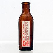 Amber Glass Poison Bottle