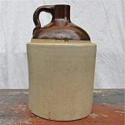 Antique Tan and Light Brown Crock or Jug