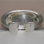 American Cream and Sugar Service on Serving Tray Rogers Silver Plate