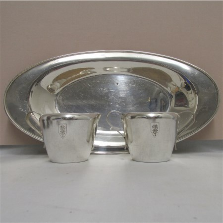 American Cream and Sugar Service on Tray Rogers Silver Plate