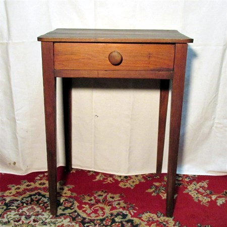 Circa 1830 Taper Leg Single Drawer Stand 50% OFF