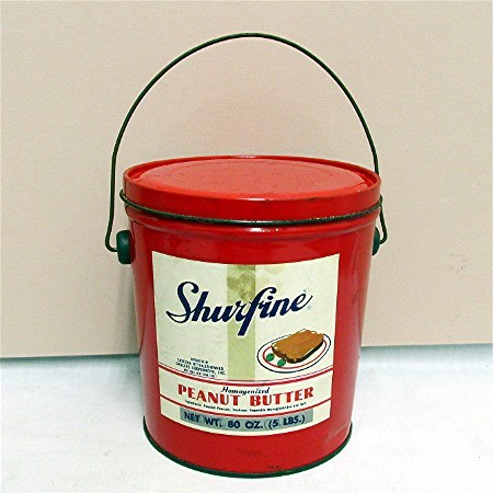 SOLD 400 Other Advertising Tins to Choose From Advertising Tin Shur Fine Peanut Butter