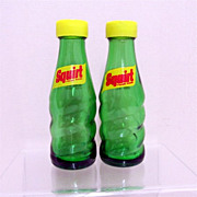 Squirt Miniature Soda Bottles Salt and Pepper Shaker Set