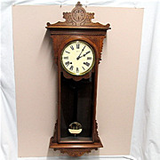 E. N. Welch Antique American Wall Clock Fully Restored And Completely Original