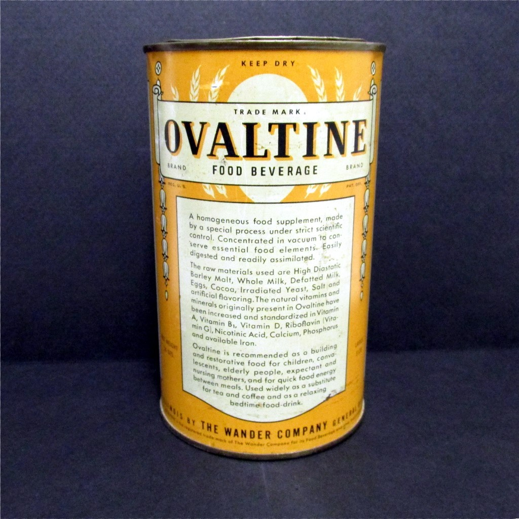 Ovaltine Food Beverage 14 oz Advertising Tin