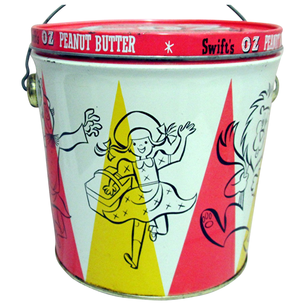 SOLD    We have Smaller Size for Sale  OZ Peanut Butter Tin Pail with Lid