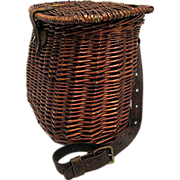 Hand Woven Fishing Creel with Shoulder Strap 50% OFF