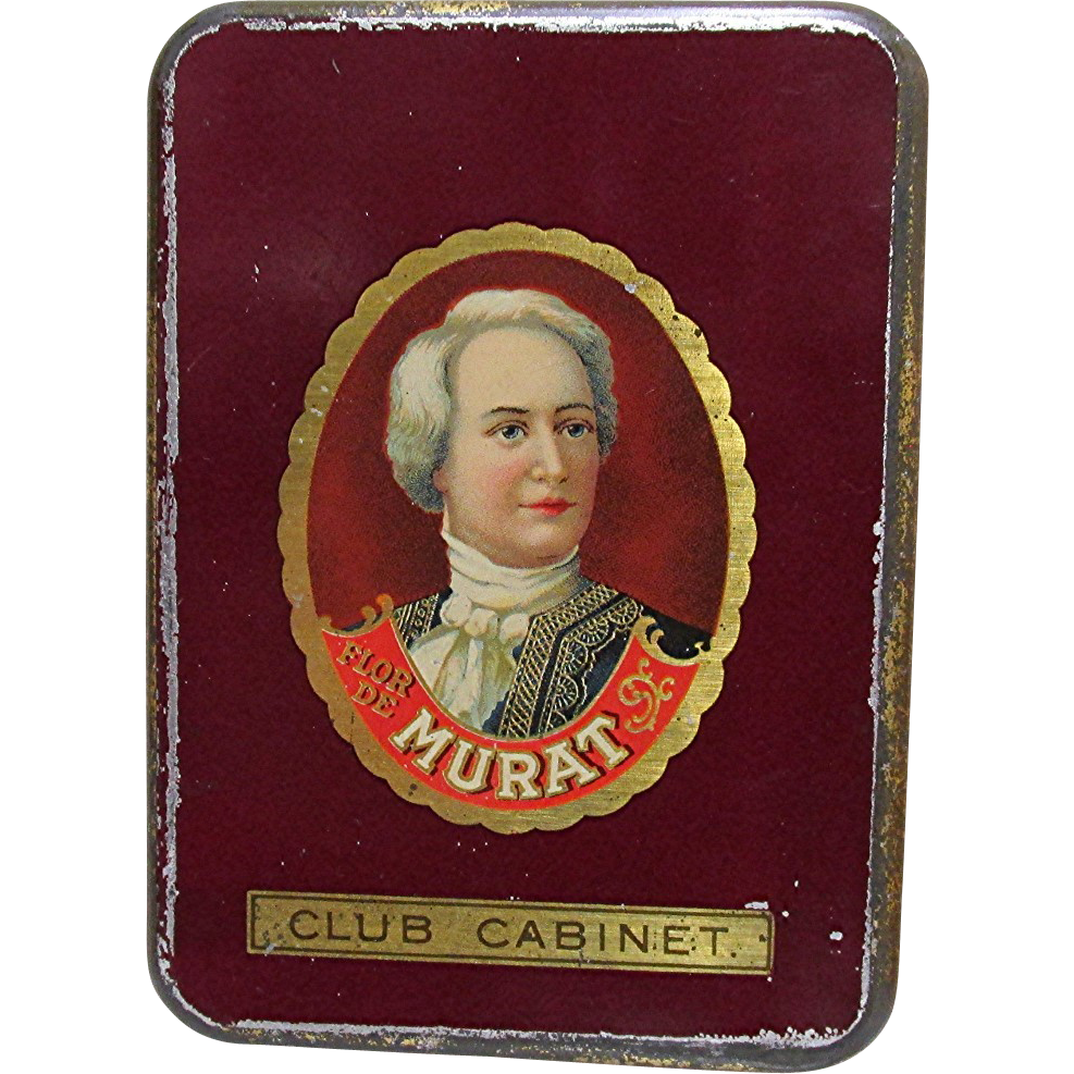 SOLD   Murat Club Cabinet Pocket Cigar Tin
