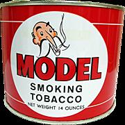 MODEL Smoking Tobacco Advertising Tin