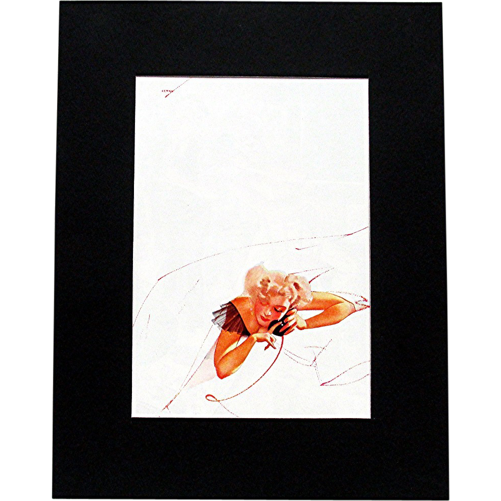 George Petty November 1936 Petty Girl Print 50% Off