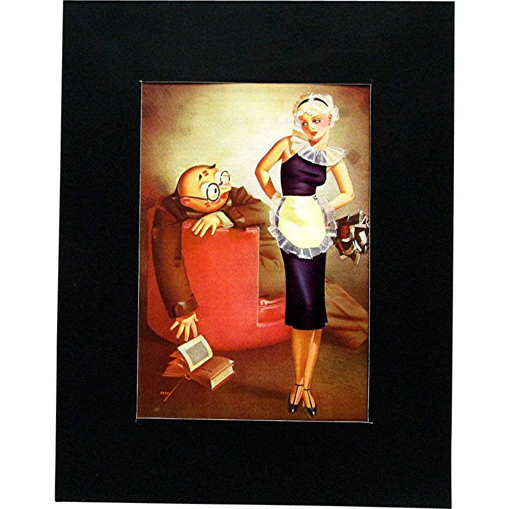George Petty  October 1935 Esquire Magazine Satirical Print