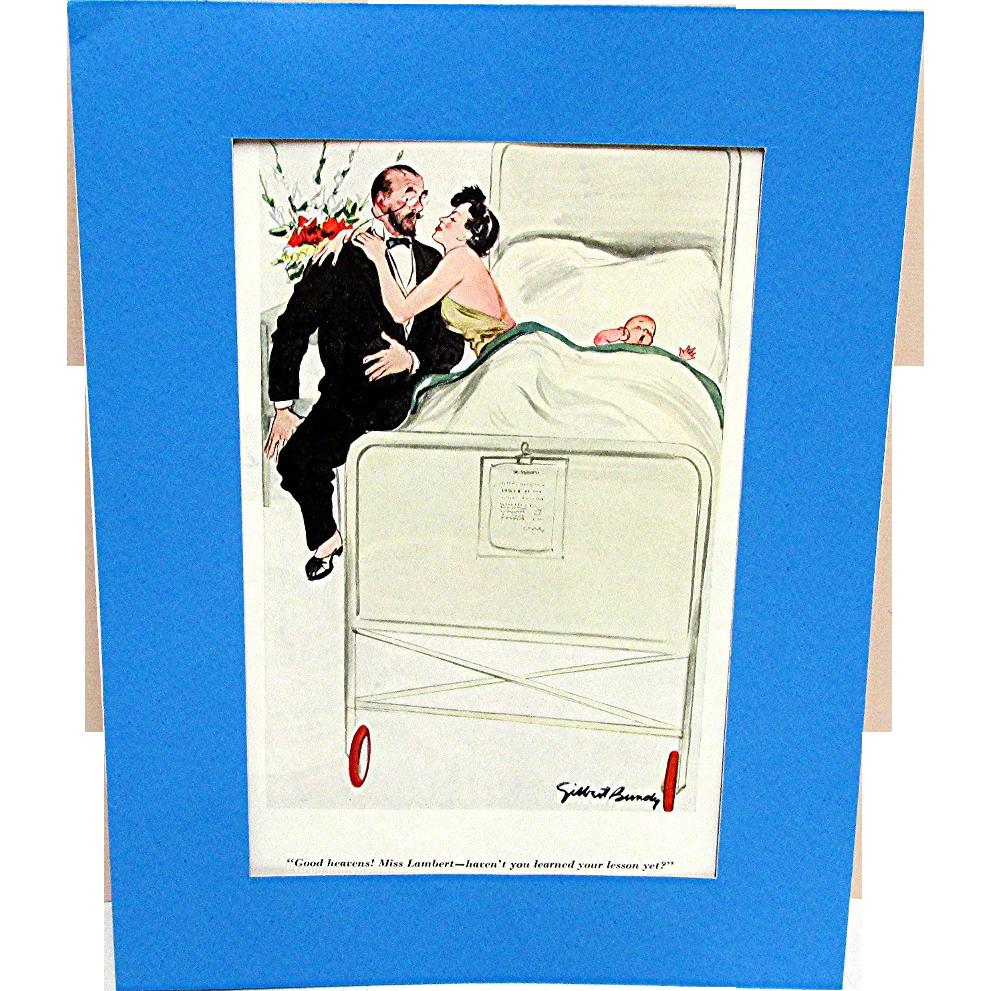 Esquire Magazine 1936-37 Three Gilbert Bundy Cartoon Prints