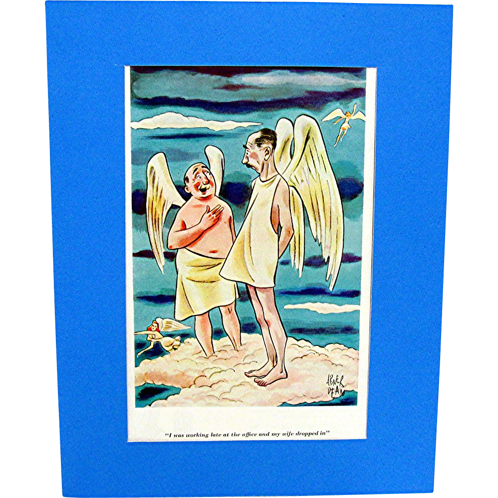 1935-1936 Abner Dean Cartoons from Esquire Magazine Set of Three