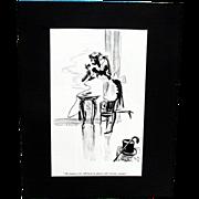 Black American Esquire Magazine 1935 and 1937  Cartoons