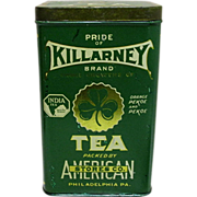 Killarney Brand Tea Advertising Tin American Stores Co.