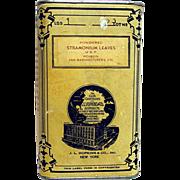 Advertising Drugstore Pharmacy Tin By  J L Hopkins Stramonium Leaves