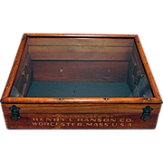 Advertising Counter Top Display Case For Henry Hanson