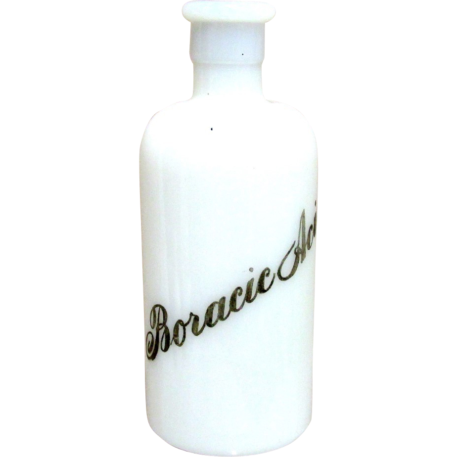 Boracic Acid Apothecary Bottle
