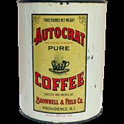 Autocrat Coffee and RICE Advertising Tin