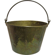 Antique Brass Kettle Circa 1865 American