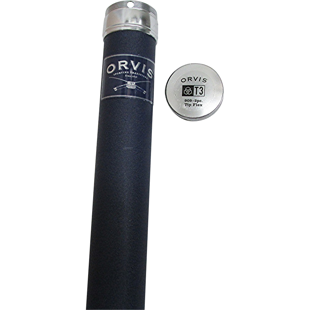 "56 1/2"" long Orvis Blue Metal Fly Rod Tube"