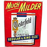 Chesterfield Cigarettes Tin Advertising Sign