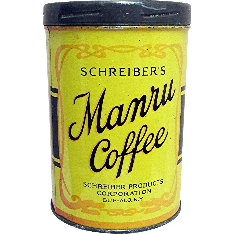 Manru Advertising Coffee Tin