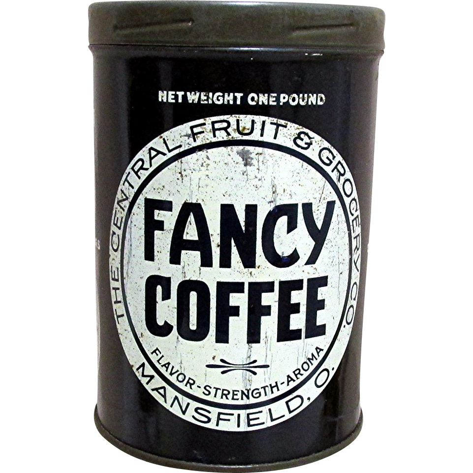 Fancy Coffee Advertising Tin