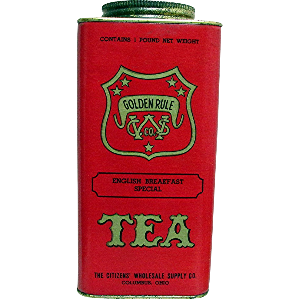 Golden Rule Advertising Tea Tin