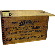 Armour Laboratories Wood Pharmacy Advertising Box