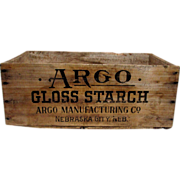 Argo Starch Wood Advertising Box