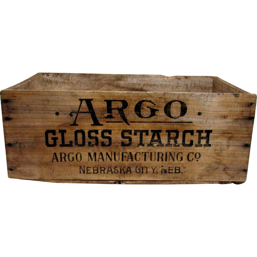SOLD    Argo Starch Wood Advertising Box