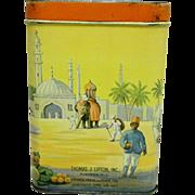 Rare Lipton Advertising Tea Tin Circa 1910-1915