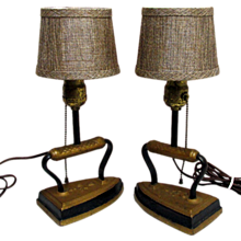 Lamp Sad Iron Table Lamps Matching Pair