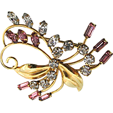 Art Nouveau Floral Swirl Pin or Brooch