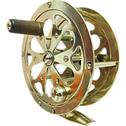 SOLD    Solid Brass Fly Reel with Case
