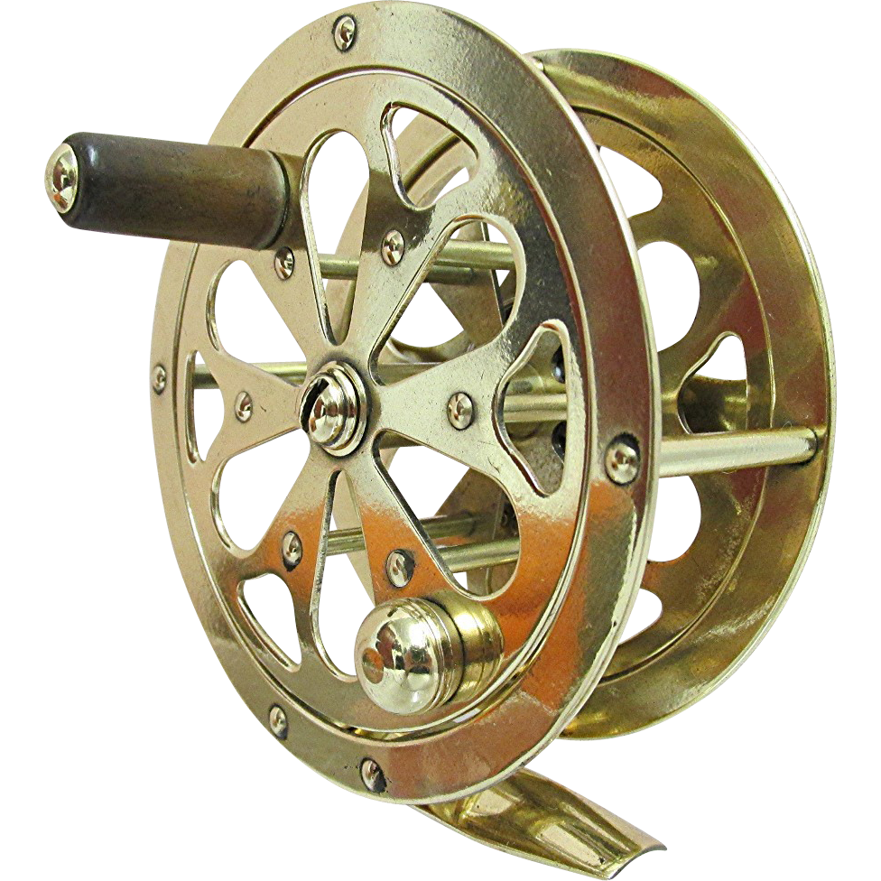 Solid Brass Fly Reel with Case