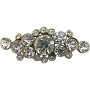 Pin or Brooch Rhinestone Bar Pin