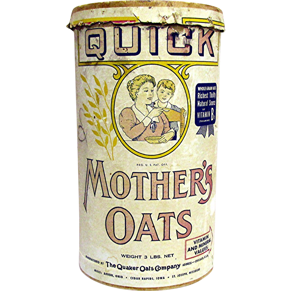 Advertising Mothers Oats 3 lbs Container