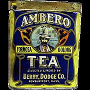 Ambero Tea Advertising Tin