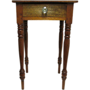 Mahogany Single Drawer Table  American Circa 1860