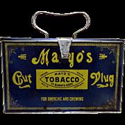 Mayo's Advertising Tin Cut Plug Lunch Box