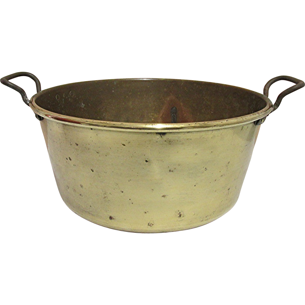 Antique Brass Kettle Or Pail