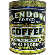 Advertising Glendora Coffee Tin MINT
